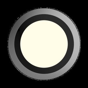 ONYXX CIRCLE BASE 380 Wand- und Deckenleuchte 18W 1700lm schwarz 4000K neutralweiß