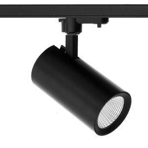 TRACK LED 3-Phasen-Strahler schwarz aus Alu, 10W 960lm, 3000K warmweiß, CRI/Ra >90