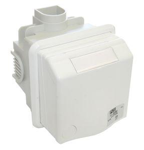 CEE Unterputz Wanddose weiß, Easy Quick, 5-polig, 16A, 400V, 6h, vernickelte Kontakte