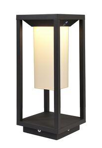 LED Stehleuchte, Warmweiß, Samas Solar 340 hoch, dunkelgrau, 3000K, 170lm, 2,2W, inkl. Akku, IP54