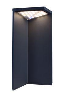 LED Stehleuchte, Warmweiß, Lugh Solar dunkelgrau, 3000K, 130lm, , 2,2W, IP54