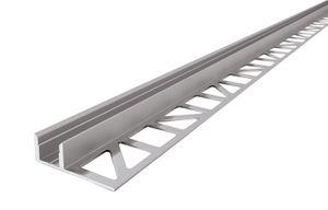 Aluminium Fliesen-Profil EL-01-08 Silber-matt, eloxiert, LxBxH 3000x36x11 mm