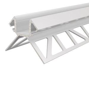 Aluminium Fliesen-Profil Ecke außen EV-02-12 Weiß, lackiert, LxBxH 2500x45x45 mm
