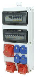 CEE Kunststoff Wandverteiler STROBL 32/5 2x16/5, 4xSSD, IP54, 10TE