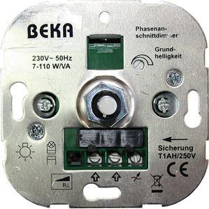 BEKA Dimmer für Ohmsche und induktive Lasten, Phasenanschnitt, Druck-Wechsel, 20-600W