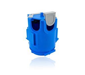 PRIMO® Gerätedose, Deckendose, Leuchtendose, Quick-Fix inkl. Schieber, blau