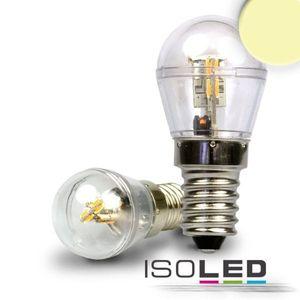 5er Set ISOLED LED E14 Birne, 16SMD, 1 Watt, klar, warmweiss, 360°, A+, 3000K, 60lm, CRI:80