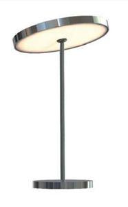 Top Light Tischleuchte Sun Table, nach unten strahlend, Ø=90mm, chrom, 2700K, dimmbar