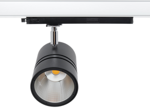 SPOTLIGHT RONDO 90G LED 3-Ph-Strahler 28W 3500lm 4000K 940 Premium White CRI 90, 36° schwarz/chrom