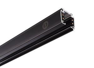 Schienensystem 3-Phasen 230V, D Line Aufbaustromschiene 2m, schwarz