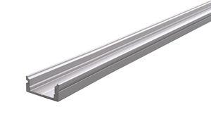 Reprofil AU-01-10 flaches U-Profil für 10 - 11,3 mm LED Stripes, Silber-matt, eloxiert, 1000 mm