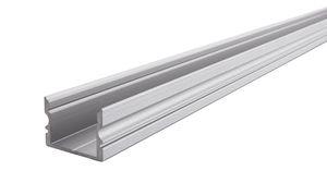Reprofil AU-02-15 hohes U-Profil für 15 - 16,3 mm LED Stripes, Silber-matt, eloxiert, 2000 mm
