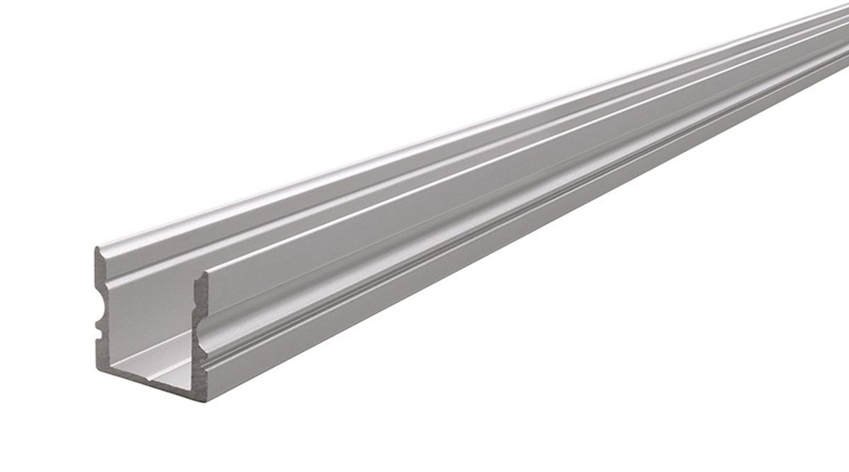 Reprofil AU 20 20 hohes U Profil für 20   20,20 mm LED Stripes, Silber matt,  eloxiert, 20000 mm