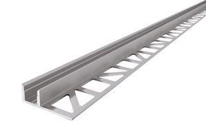 EL-01-08 Fliesen-Profil für 8 - 9,3 mm LED Stripes, Silber-matt, eloxiert, 2500 mm
