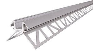 EV-02-08 Fliesen-Profil Ecke außen für 8 - 9,3 mm LED Stripes, Silber-matt, eloxiert, 2500 mm