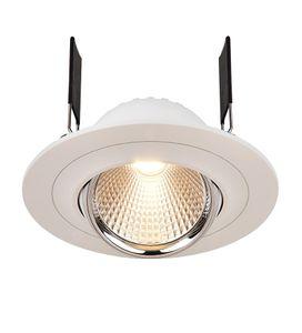 LED Deckeneinbaustrahler Saturn, LED warmweiß 8W, 350mA, chrom