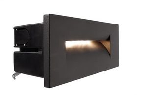 Außen LED Wandeinbauleuchte Yvette III, asymmetrisch, LED warmweiß 8,4 W, anthrazit