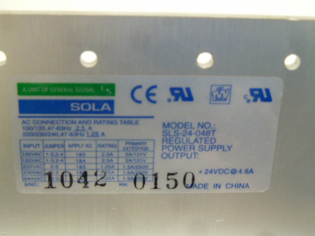 Sola SLS-24-048T Regulated Power Supply Stromversorgung Netzteil