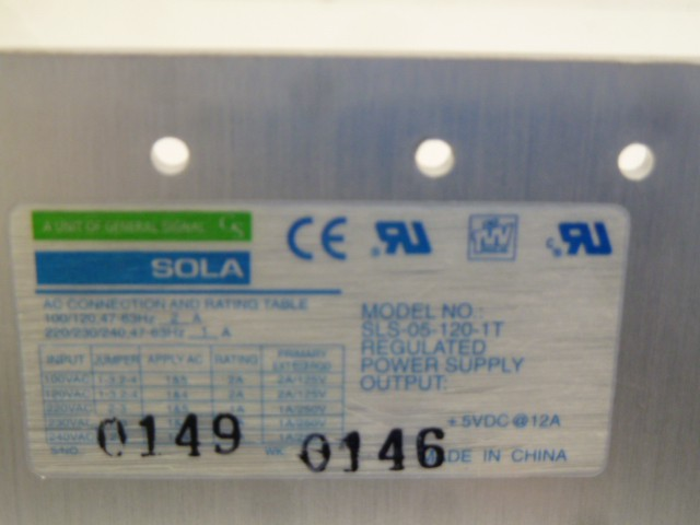 Sola SLS-05-120-1T Regulated Power Supply Stromversorgung Netzteil