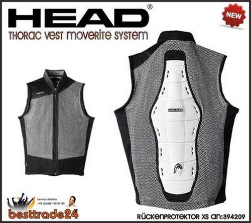 Head Thorac Vest Moverite System Body Armour Rückenprotektor 394209 Size XS