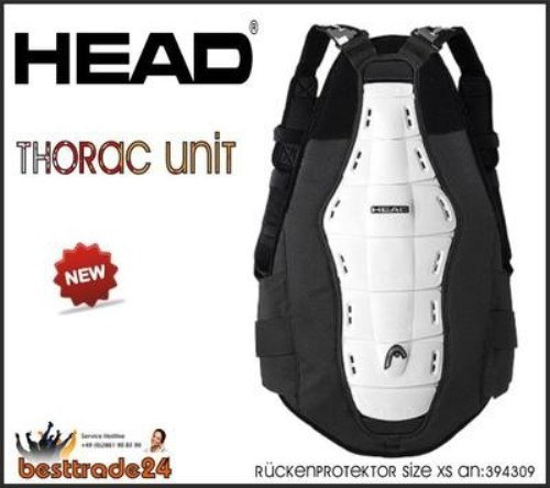 Head THORAC UNIT Double Powerbelt Body Armour Rückenprotektor 394309  GR.XS Neu