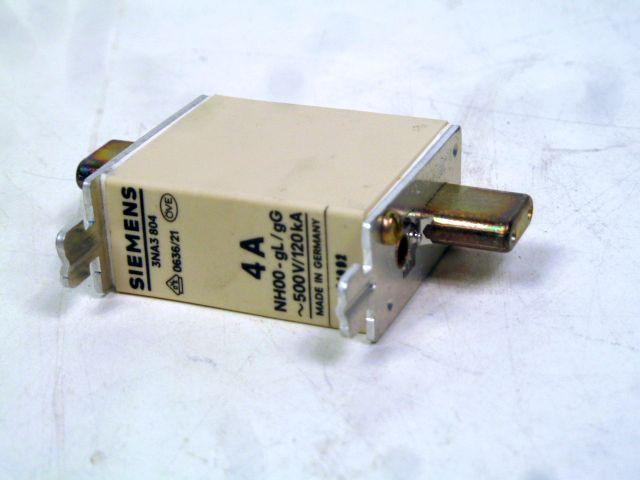 9 x Siemens 3NA3 804 NH Sicherungseinsätze Gr.00 HRC-Fuse links 4A 500 Volt – Bild 5