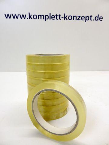 20x Rollen 15mm x 66m Klebefilm Klebeband Klebestreifen Packband PP transparent – Bild 1