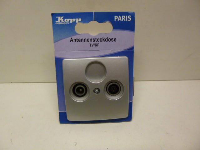 Kopp Paris Antennensteckdose Steckdose TV RF silber 921320081 – Bild 2