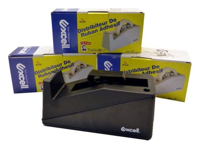 Excell Tischabroller Abroller schwere Ausführung bis 25mm Adapter Kern 25/76mm