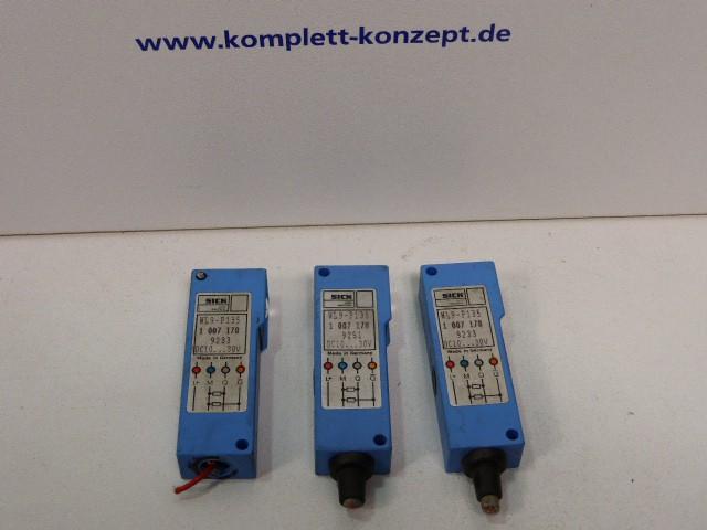 3 Stück x SICK 1007178 WL9-P135 Optischer Näherungsschalter Lichtschranke  – Bild 1