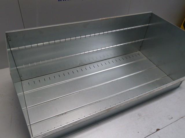 Tegometall Metallschütte 118x43x77cm Lagerkiste Metallkiste Verkaufsschütte  – Bild 1