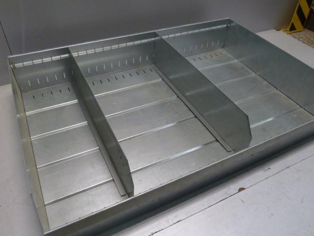 Tegometall Metallschütte 118x20x77cm Lagerkiste Metallkiste Verkaufsschütte  – Bild 4