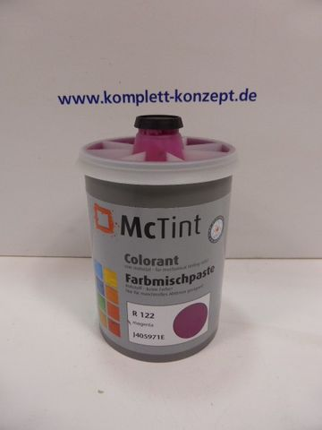 McTint Colorant Farbe Farbmischpaste R 122 J405971E Abtönfarbe magenta 1 Liter