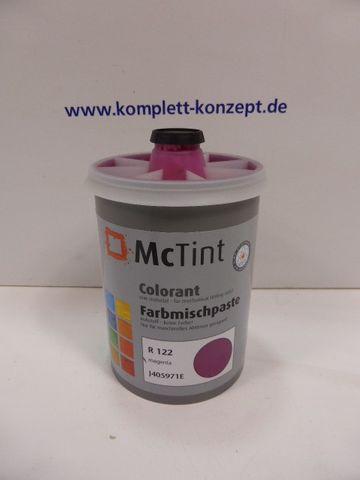 McTint Colorant Farbe Farbmischpaste R 122 J405971E Abtönfarbe magenta 1 Liter – Bild 1
