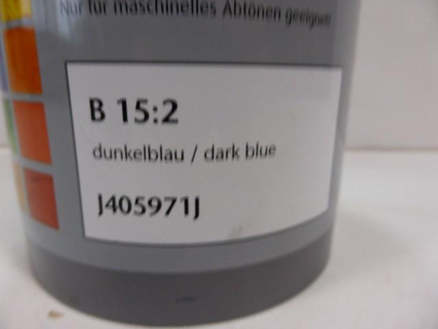 McTint Colorant Farbe Farbmischpaste B 15:2 J405971J Abtönfarbe dunkelblau 1 Lit – Bild 3