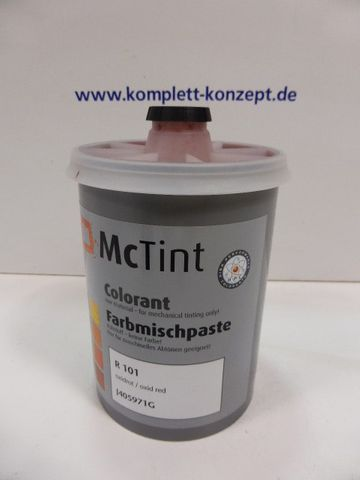 McTint Colorant Farbe Farbmischpaste R 101 / J405971G Abtönfarbe oxidrot 1 Liter – Bild 1
