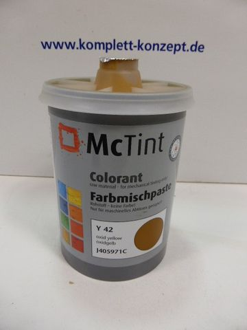McTint Colorant Farbe Farbmischpaste Y 42 / J405971C Abtönfarbe oxidgelb1 Liter