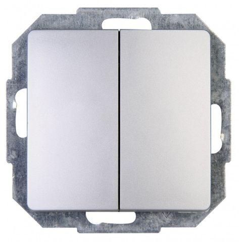 Kopp Paris Serienschalter Schalter silber 650520088 – Bild 1