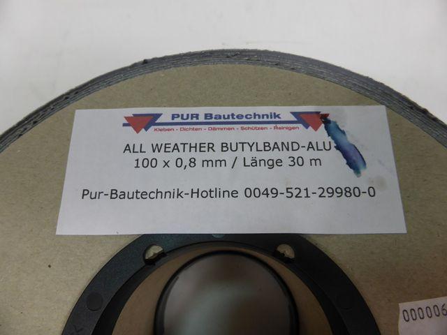 30m Butylband Alu Dichtband Abdichtband 100 x 0,8mm Butyl Abdichtsystem 1,08€/m – Bild 3