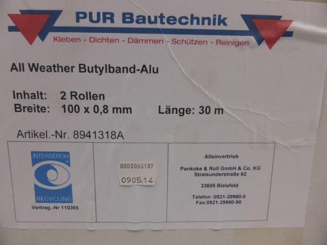 30m Butylband Alu Dichtband Abdichtband 100 x 0,8mm Butyl Abdichtsystem 1,08€/m – Bild 4
