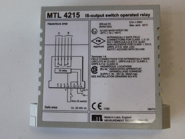 MTL4215 IS Output Switch Operated Relay – Bild 2