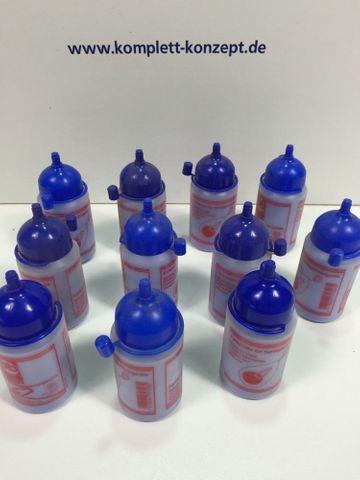 11 x FARBPUDER Blau, 100 g Kunstoff-Flasche für Schlagschnur – Bild 1