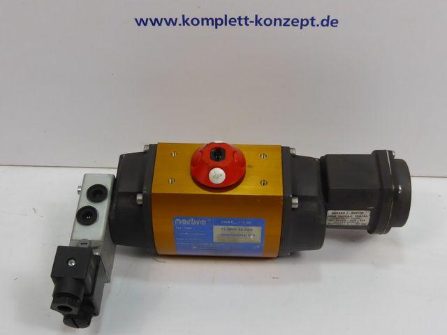 Norbro 15 BRD 40 N08 FC pneumatischer Stellantrieb + PYE-Endschalter + Wegeventil – Bild 1