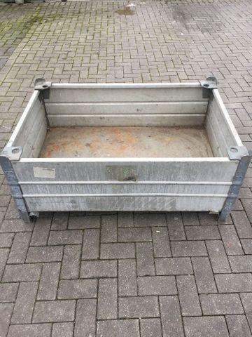 Stabile Alu Box mit Kranösen Stapelbar Europaletten Maß Stapelbox Stapelkisten – Bild 1