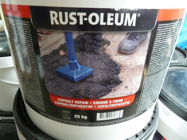 Rust-Oleum Asphaltreparatur 25kg Repararatrasphalt Asphaltgemisch – Bild 1
