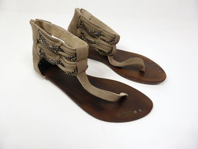 Moccio Carano Sandale Sandalette Taupe Wildleder Made in Italy 69,95 € – Bild 2