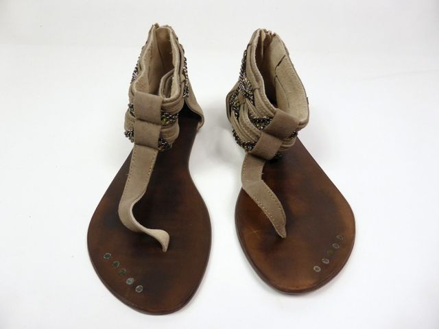 Moccio Carano Sandale Sandalette Taupe Wildleder Made in Italy 69,95 € – Bild 5