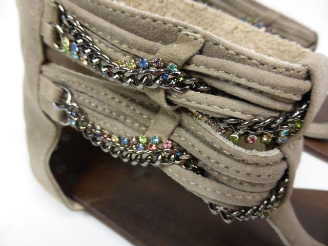 Moccio Carano Sandale Sandalette Taupe Wildleder Made in Italy 69,95 € – Bild 3