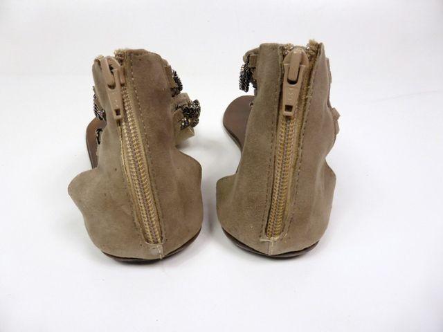 Moccio Carano Sandale Sandalette Taupe Wildleder Made in Italy 69,95 € – Bild 6