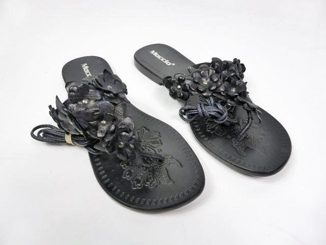Moccio Zehentrenner Sandale Sandalette Leder schwarz Made in Italy 69,95 € EU - 41 – Bild 2